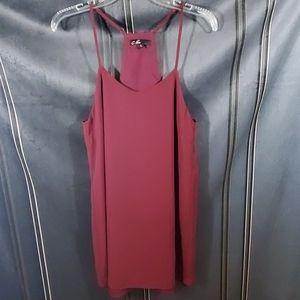 C. Luce maroon razorback dress